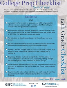 12th Grade Checklist